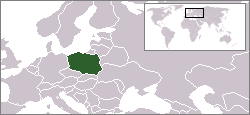 Location of Poland